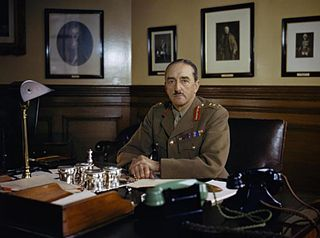 Alan Brooke at his desk 1942 - Click to open full size image