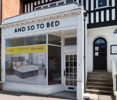 AND SO TO BED Shopfront