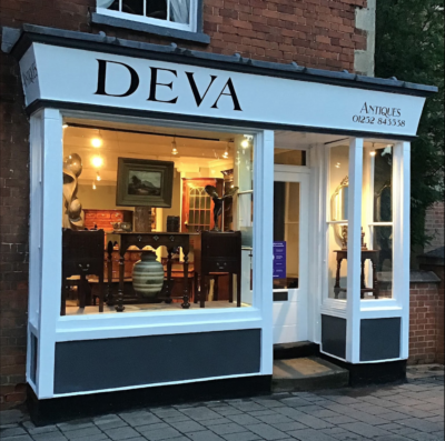 Deva Antiques Shop Front