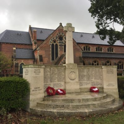 War Memorial in front of St John's Church - Click to open full size image
