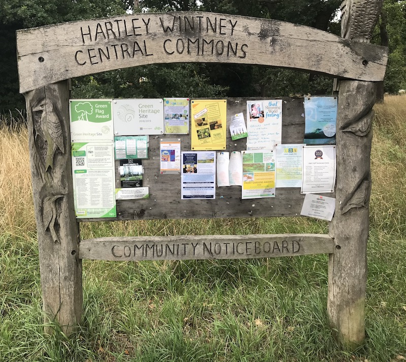 Hartley Wintney Central Commons Notice Board